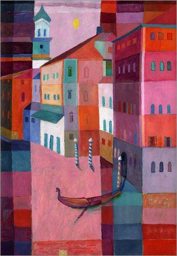 Eugen Stross - Venezianische Gondel III #marsala #marsalatrend