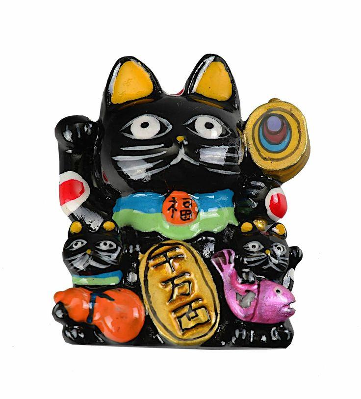SOL Luc Cat Zwart 5cm Magnetisch / The Oriental Shop