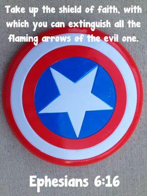 worthyoftheprize.com: Raising Biblical Superheroes {Ephesians 6}: The Helmet of Salvation and The Shield of Faith
