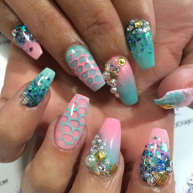 1000+ Images About Nail Art ♥ Mermaid Nails On Pinterest