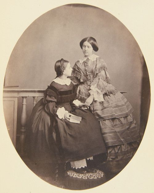 Princess Marie and Princess Stephanie of Hohenzollern-Sigmaringen (1858)