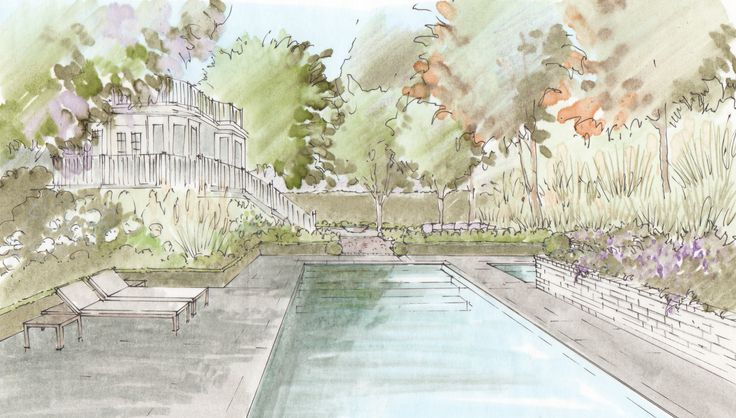 View of proposed pool.
