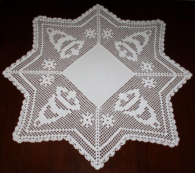Häkeldecke - Weihnachtsdecke - Glocke