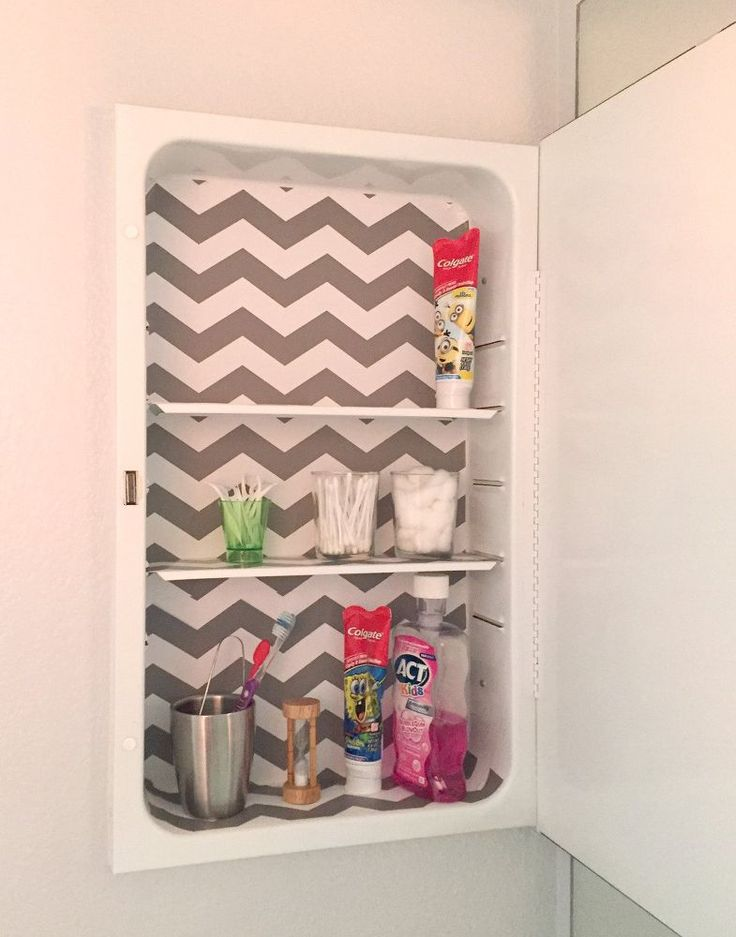 Medicine Cabinet Makeover for Less Than $2.