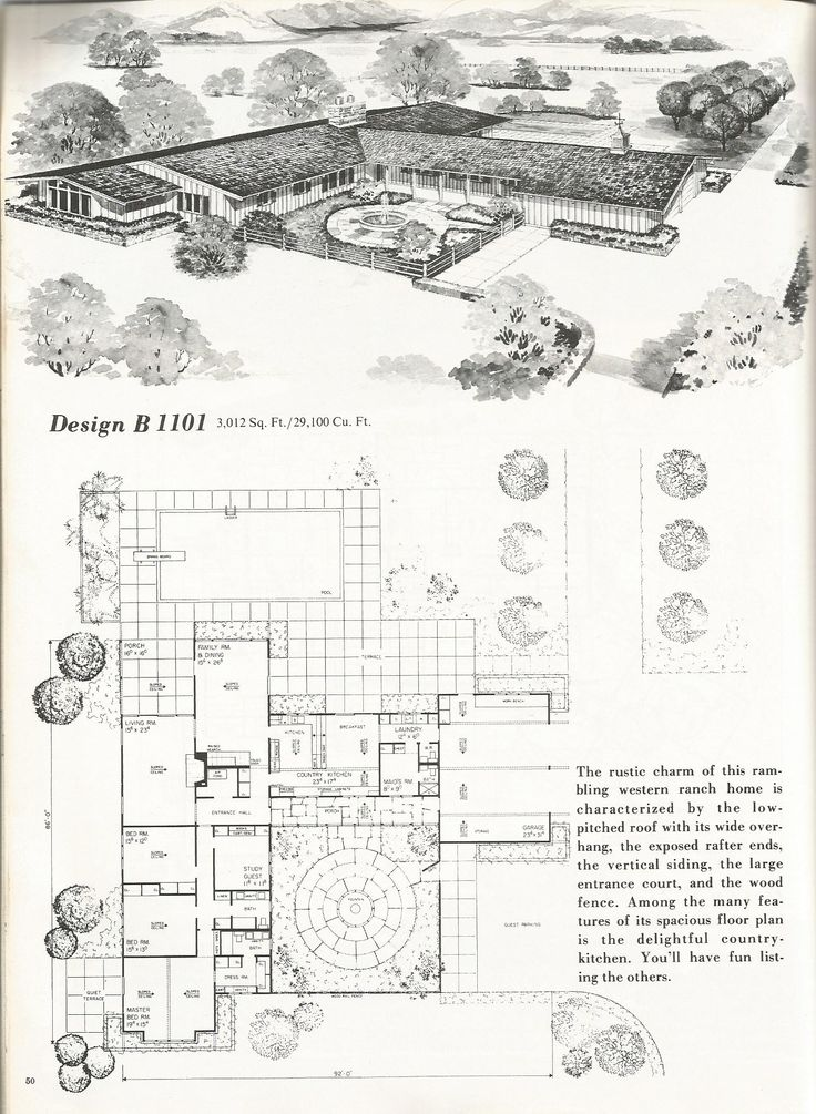 1762 best architecture floor plans vintage images on for Western homes floor plans