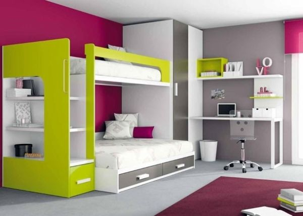 litera con cama de matrimonio 45 - cama con canape inferior