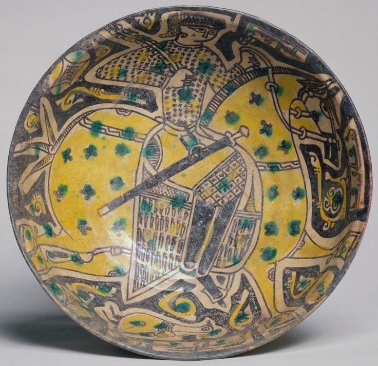 Bowl with horseman, 10th Century, Nishapur, Iran, Victoria and Albert Museum