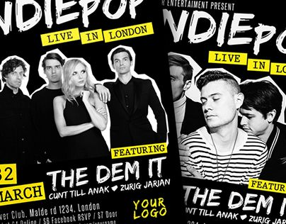 """Check out new work on my @Behance portfolio: """"Indie Pop Flyer Poster"""" http://be.net/gallery/40108387/Indie-Pop-Flyer-Poster"""