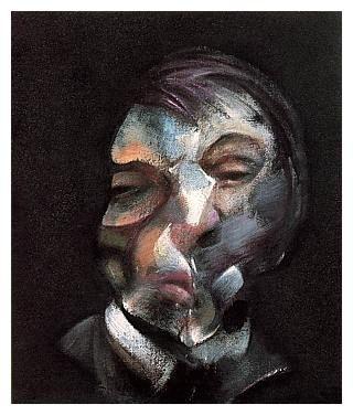 self_portrait.jpg (320×376) francis bacon paintings  plastic arts, visual arts, fine arts, art, black