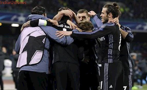Champions League: Real Madrid beats Napoli 3-1 to reach quarters