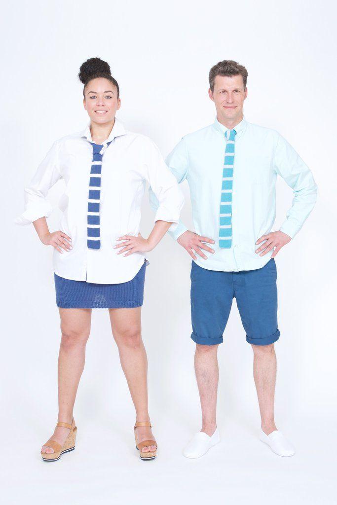 Als Sahnehäubchen zum Outfit: Stylische Strickkrawatte