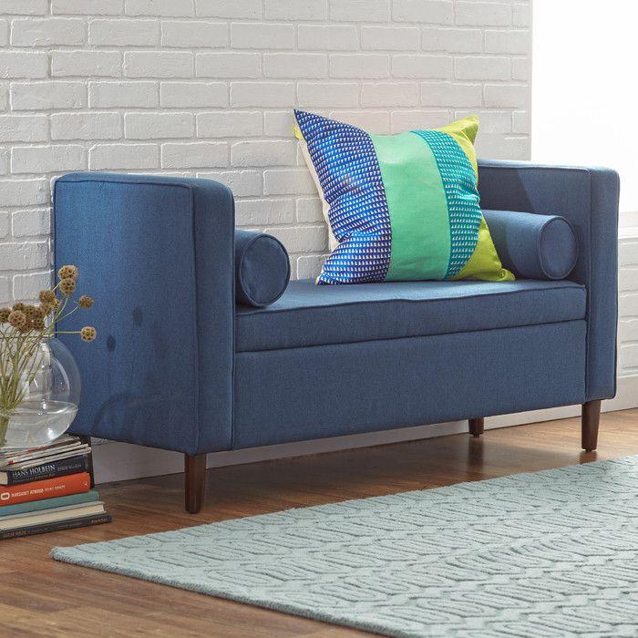 Mercury Row Rimo Upholstered Storage Bench & Reviews   Wayfair