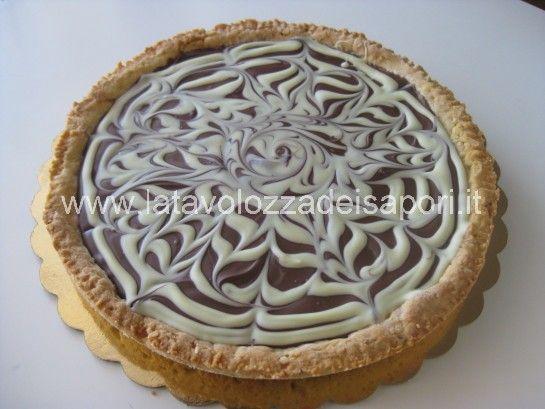 Crostata alle Nocciole marmorizzata  http://www.latavolozzadeisapori.it/ricette/crostata-alle-nocciole-marmorizzata