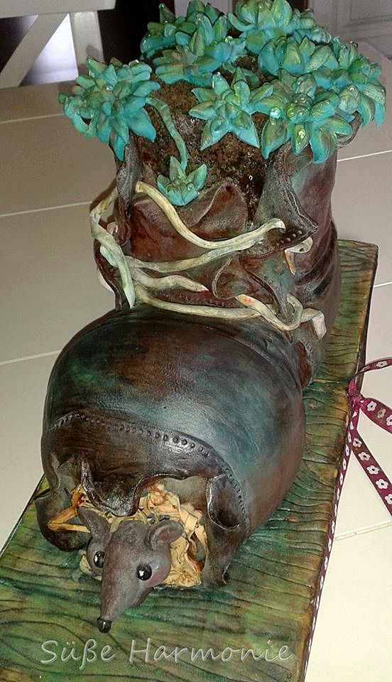 Bepflanzte Schuh - 3D  Geburtstags Torte