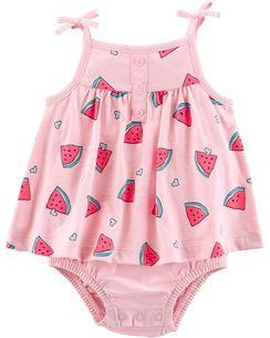 072975ce63 Watermelon Tank Sunsuit | Baby Girl | Carters baby girl, Baby girl ...