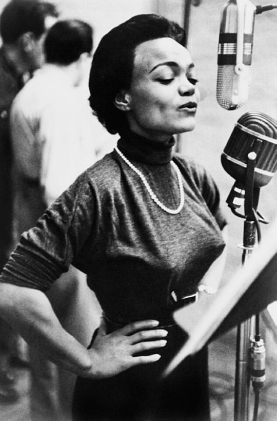 We Had Faces Then — Eartha Kitt in a recording session, New York, 1952