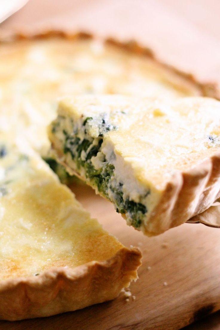 ほうれん草とリコッタチーズのキッシュ [レシピ] by Yoshiko Sullivan