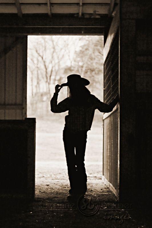 Cowboy Way ~ silhouette cowgirl
