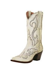 Dan Post White Cowgirl Boots... want a pair of these for when I walk down the isle, some day!