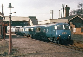 The Midland Pullman The Blue Pullman was a class of luxury train used from 1960 to 1973 by British Railways. The Blue Pullmans were the first Pullman diesel-electric multiple units, incorporating several novel features.