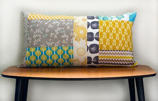 Using up the scraps ~ Cushion front | Flickr - Photo Sharing!