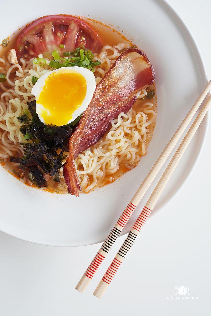 Bacon & Egg Breakfast Ramen + recipe #asian