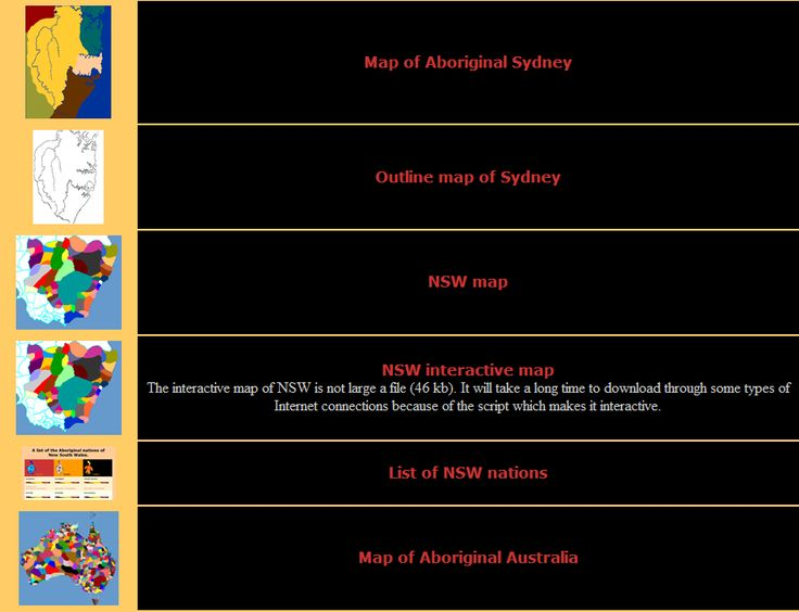 Six different maps outlining the tribal and language areas of Aboriginal and Torres Strait Islander people.Maps of Australia, NSW and Sydney are included in addition to an interactive map.