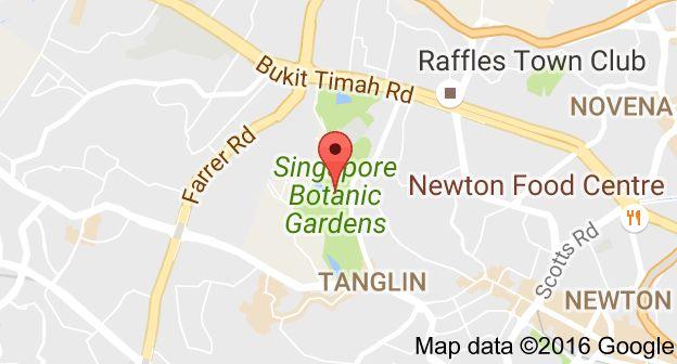 Map of Singapore Botanic Gardens