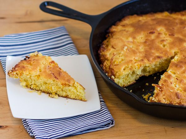 Yum's Up! for Cast Iron Skillet Cheddar Corn Bread prepared in a Lodge Cast Iron Skillet. USA made since 1896!