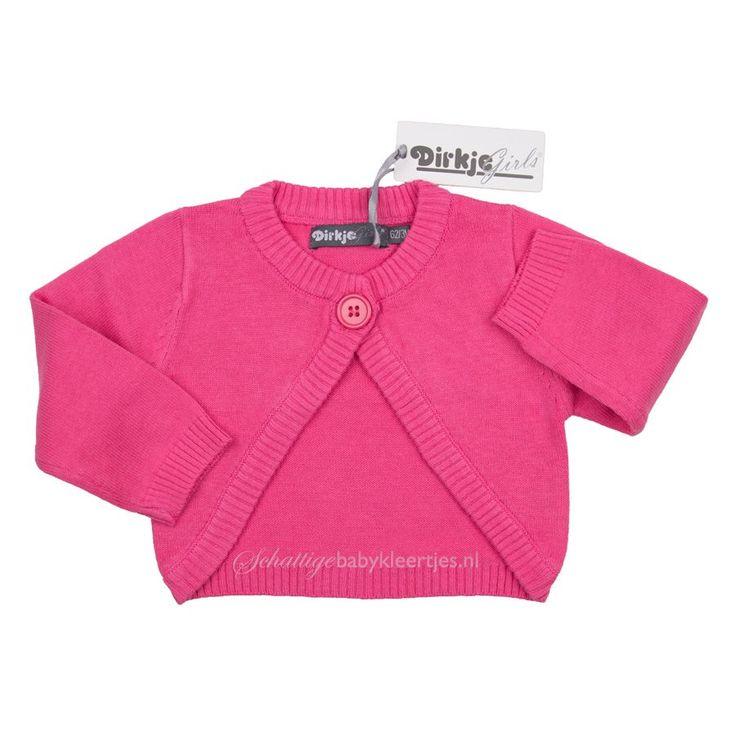 DIRKJE babykleding Vest Loving Hearts (roze) - Dirkje babykleding