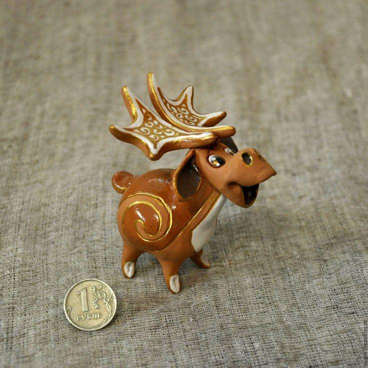 Купить Лось - лесное чудо - лось, лосик, керамический лось, сохатый, керамика ручной работы