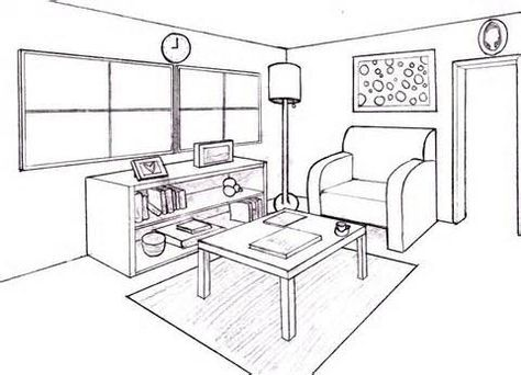 Drawing Furniture 2 Point Perspective
