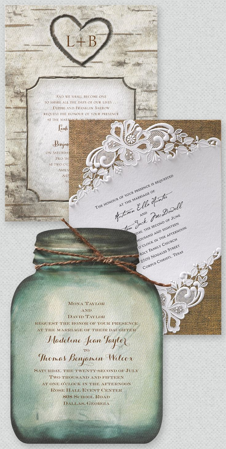 The very best rustic themed wedding invitations all