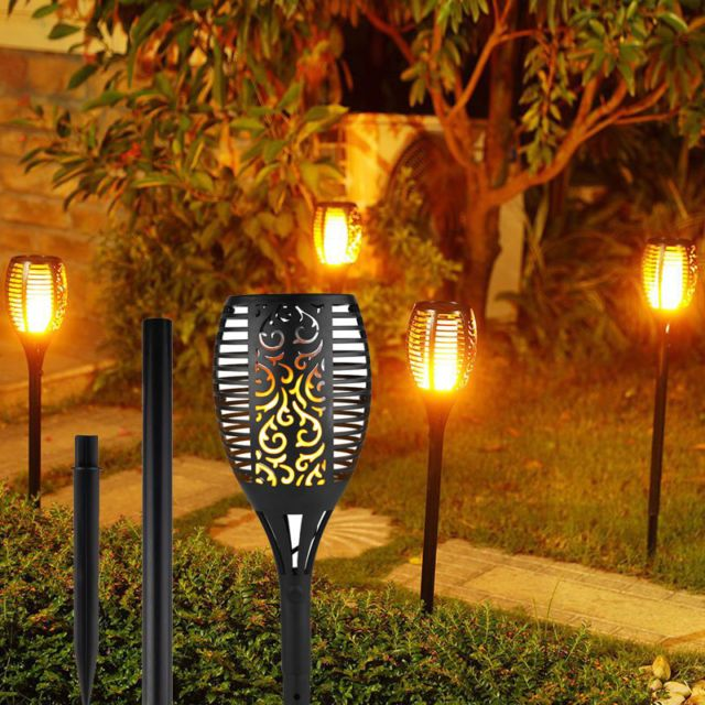 36 best solar tiki torches images on pinterest tiki torches solar 2 4 pack solar tiki torch light dusk to dawn flame garden lights halloween decor mozeypictures Gallery