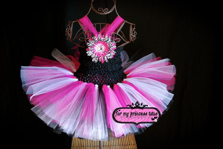 Zebra Tutu Dress. $25.00, via Etsy.