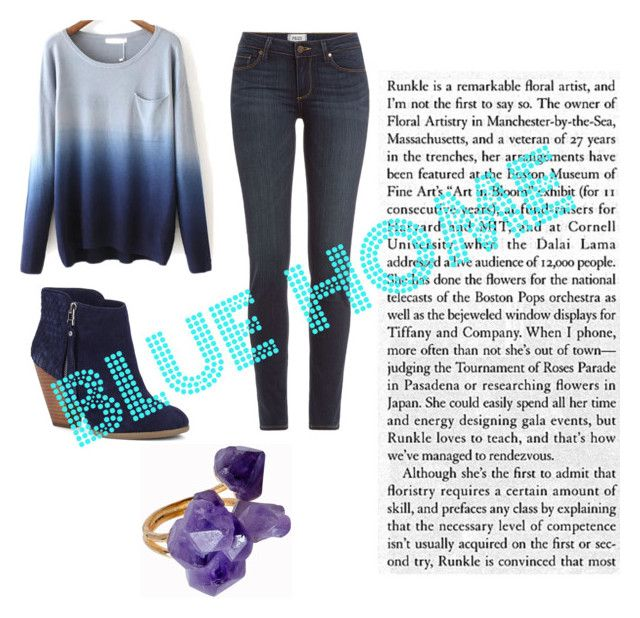 """""""Blue home"""" by simdanjoh on Polyvore featuring Sole Society, Paige Denim and Helix & Felix"""