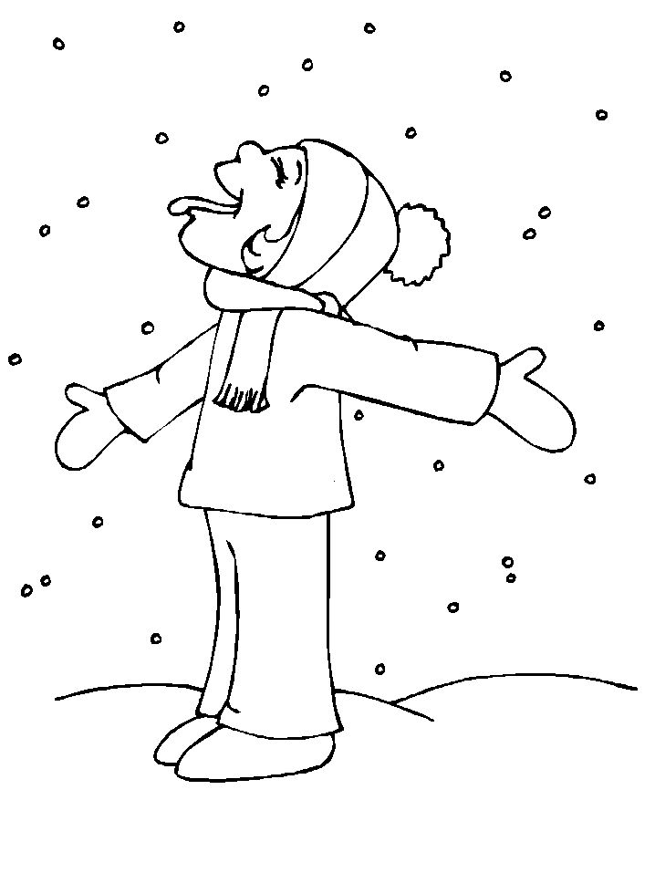 a fun snowy coloring page