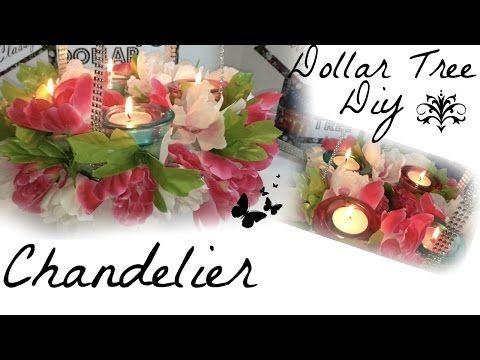 Dollar Tree Diy Chandelier - YouTube