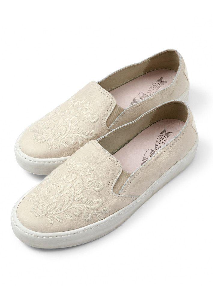 Odd Molly Sneakers - All Mine slip-in Sneakers 616M-898 light porcelain – Acorns