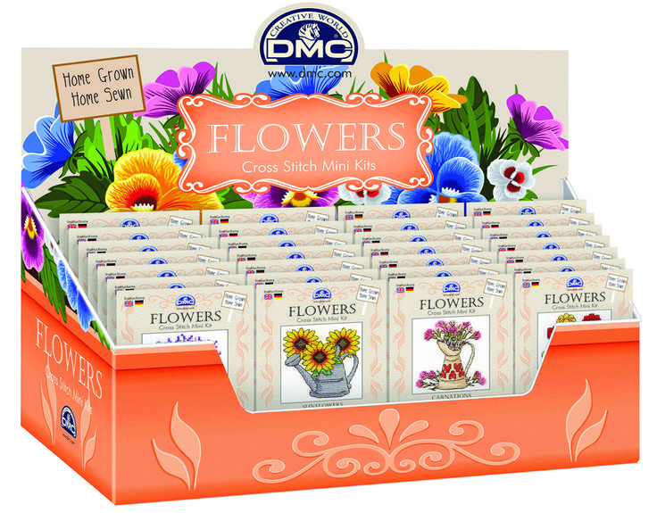 DMC's home-grown and home-sewn seed packet cross-stitch kits