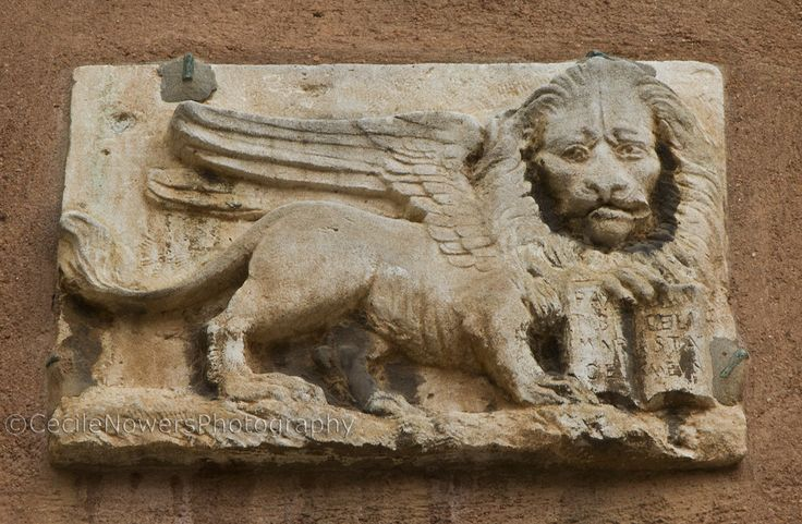 Venetian Lion is seen everywhere.