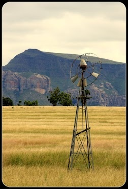 Defunct windmill on the Barkley Pass, Barkley East, Eastern Cape, South Africa