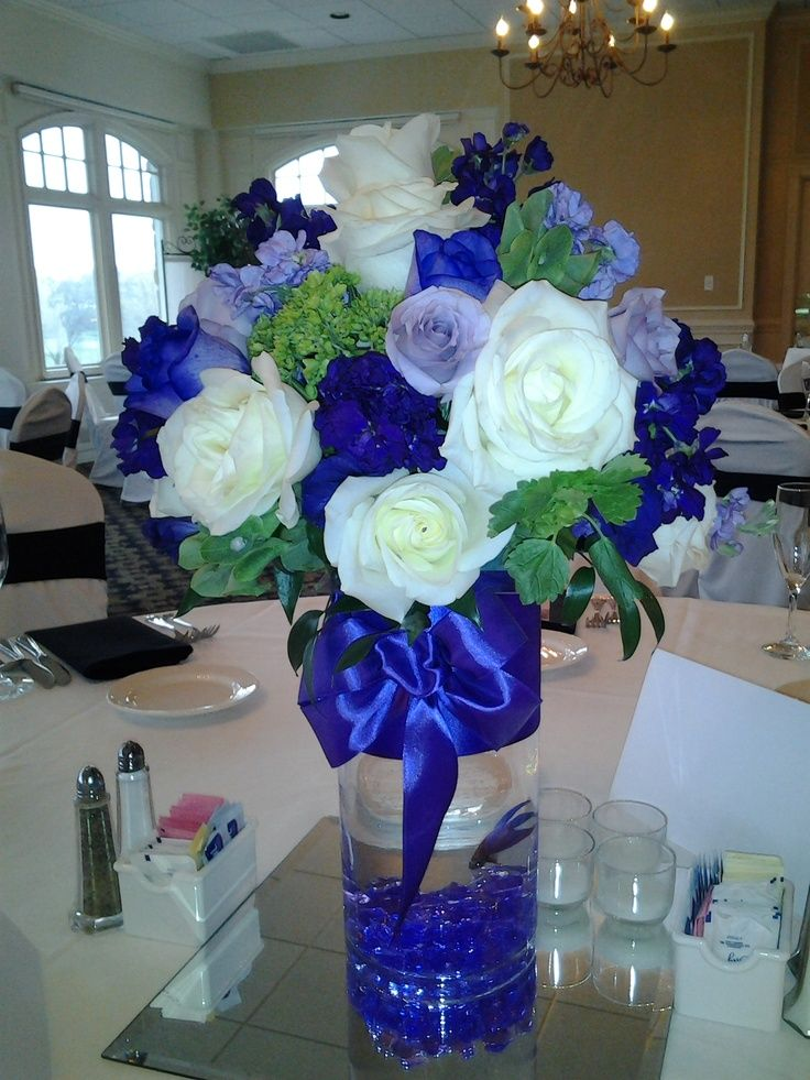 wedding fish centerpiece flowers