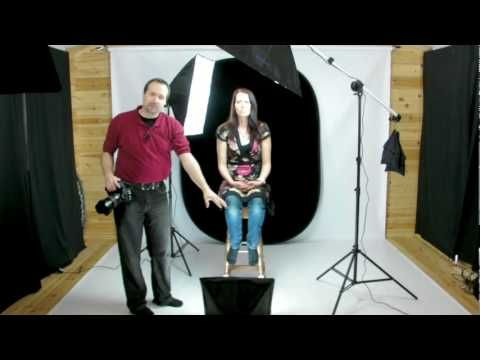 Portrait Photography using continuous lighting - YouTube