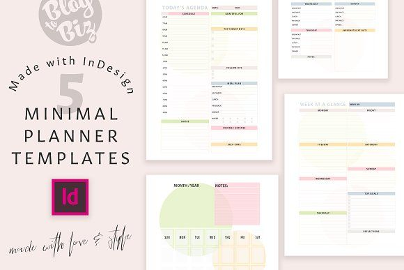 Planner Templates With Indesign Planner Template Indesign Weekly Planner Template