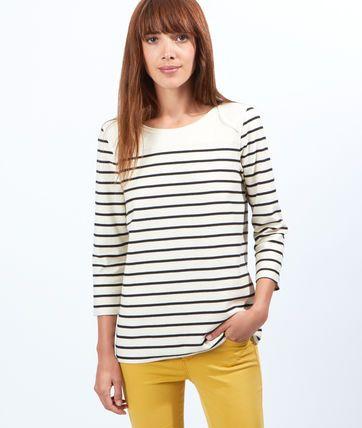 Marinière en coton - Tops, tee-shirts - La collection - Prêt-à-porter