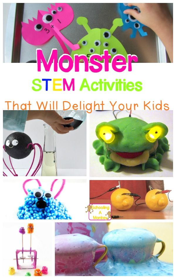 Try these monster science and STEM activities with your kids and bring Halloween…