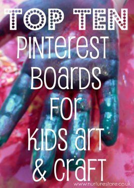arts and crafts pinterest boards #kids: Ten Pinterest, For Kids, Top Ten, Kid Art, Kids Art, Arts And Crafts, Arts & Crafts, Pinterest Boards