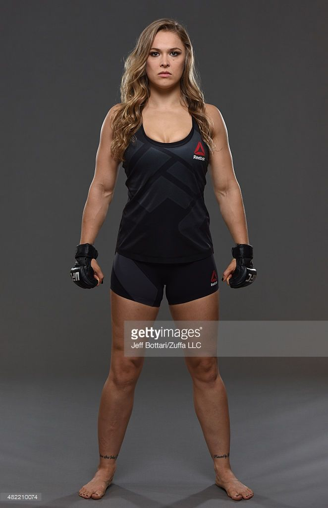 UFC women's bantamweight champion Ronda Rousey poses for a portrait during a UFC photo session at the Sheraton Rio Hotel on July 28, 2015 in Rio de Janeiro, Brazil.