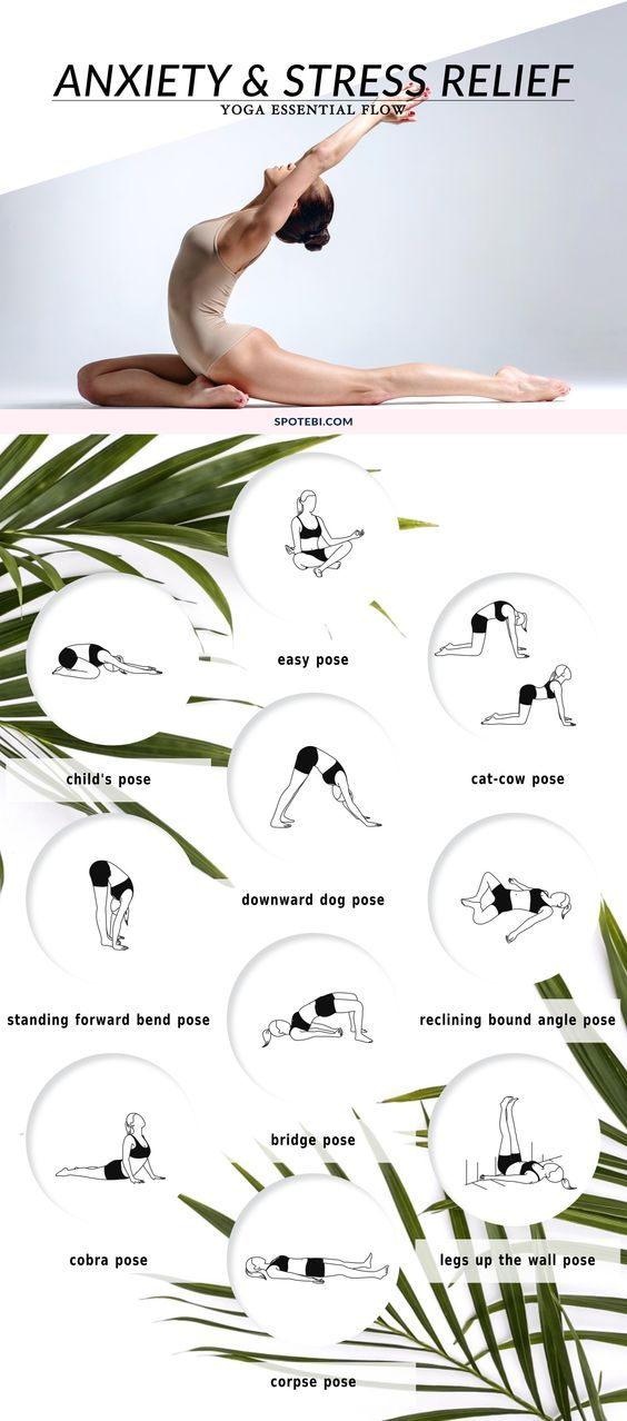 Practicing yoga and meditation regularly can help us reduce stress and anxiety in our lives. This yoga flow is primarily designed for stress relief, and these poses help alleviate the symptoms and side effects of anxiety and stress. http://www.spotebi.com/yoga-sequences/anxiety-stress-relief/: